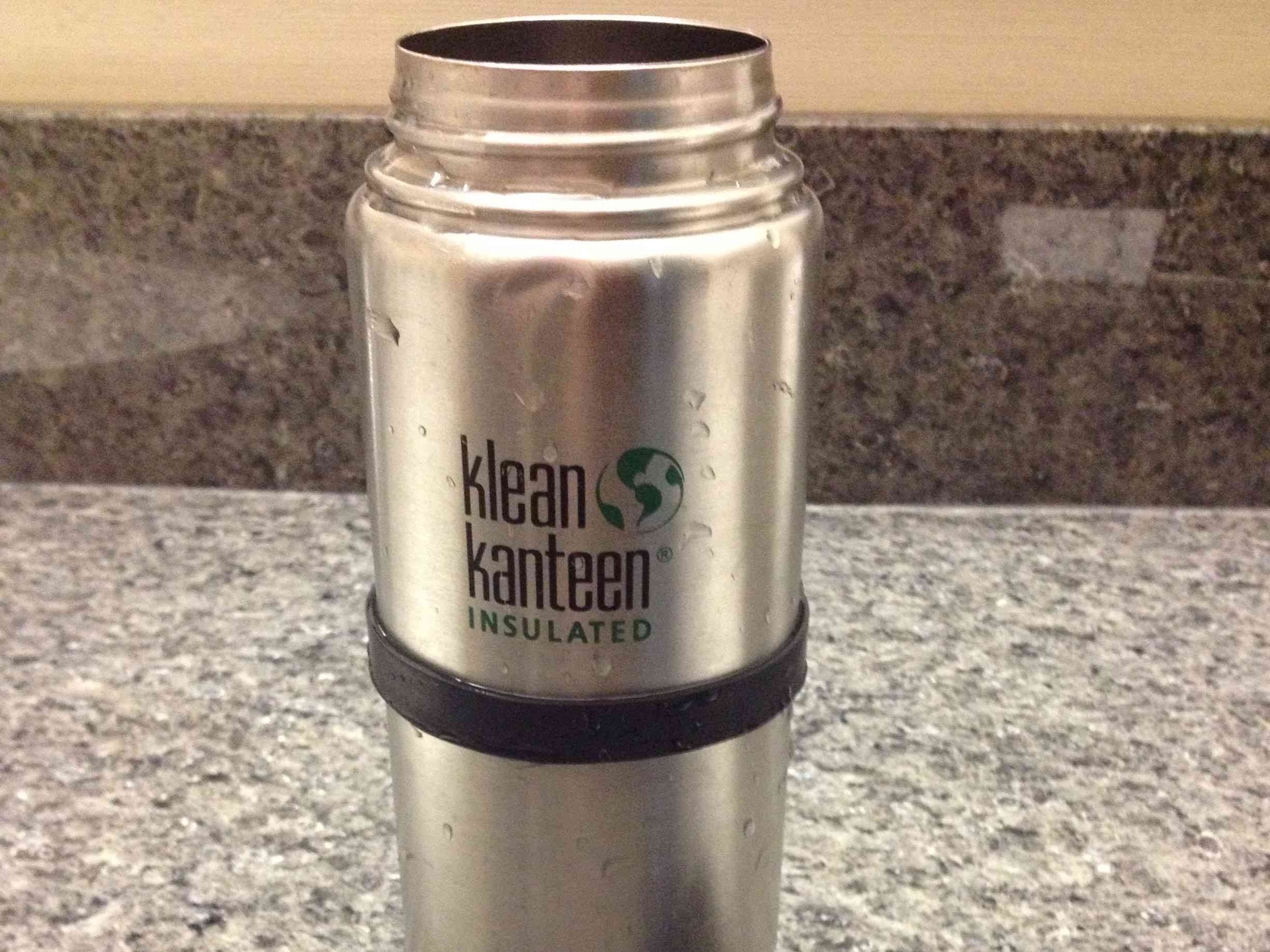 Klean kanteen insulated sitting on a counter