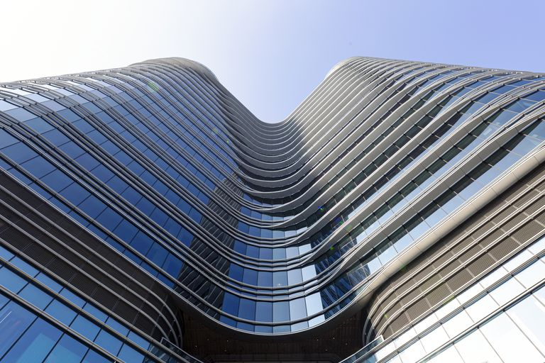 """A """"grade A"""" sustainable office building in Hong Kong."""