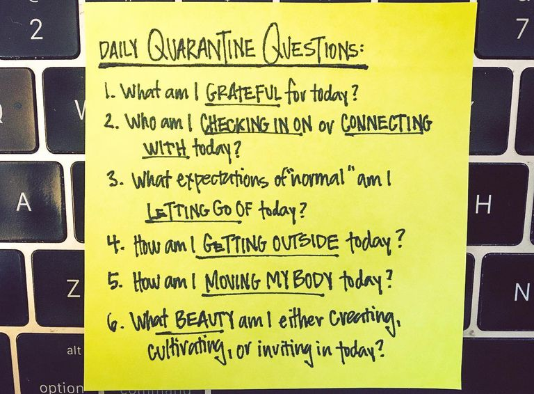 6 preguntas que debe hacerse todos los días para una mentalidad de cuarentena más saludable