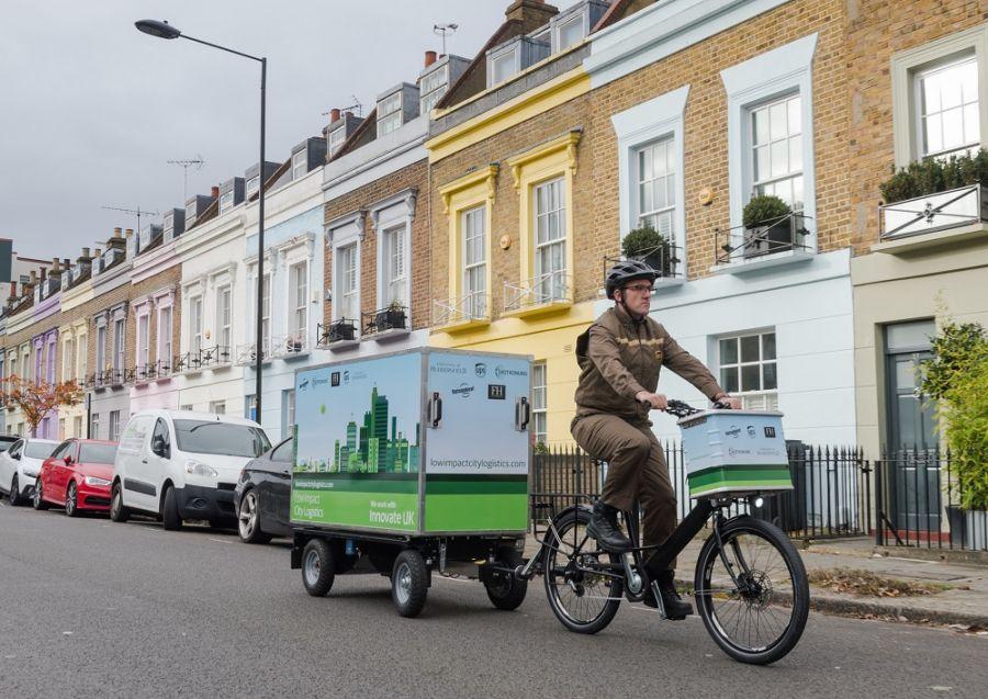 UPS London electric bike trailer