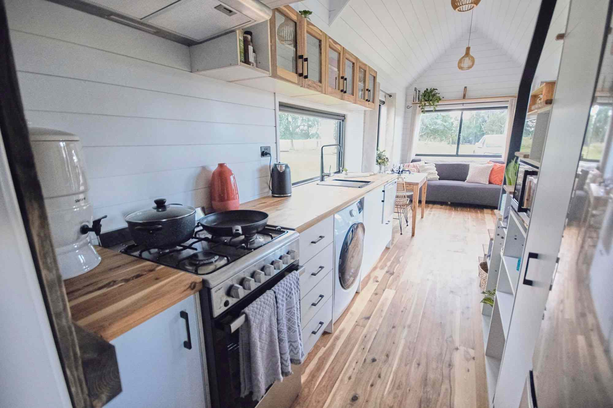 Sojourner Tiny House by Hauslein Tiny House Company kitchen