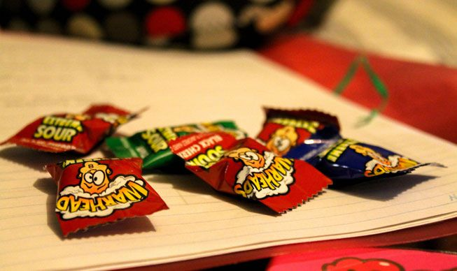 Packets of the candy Warheads