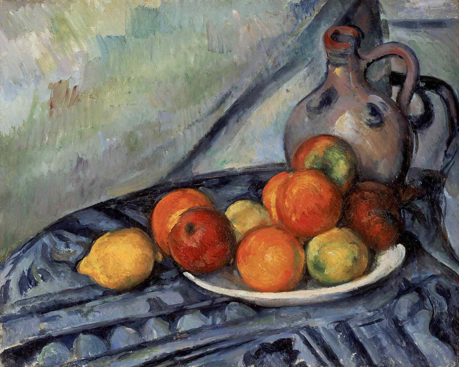 Fruit and a Jug on a Table painting by Cézanne