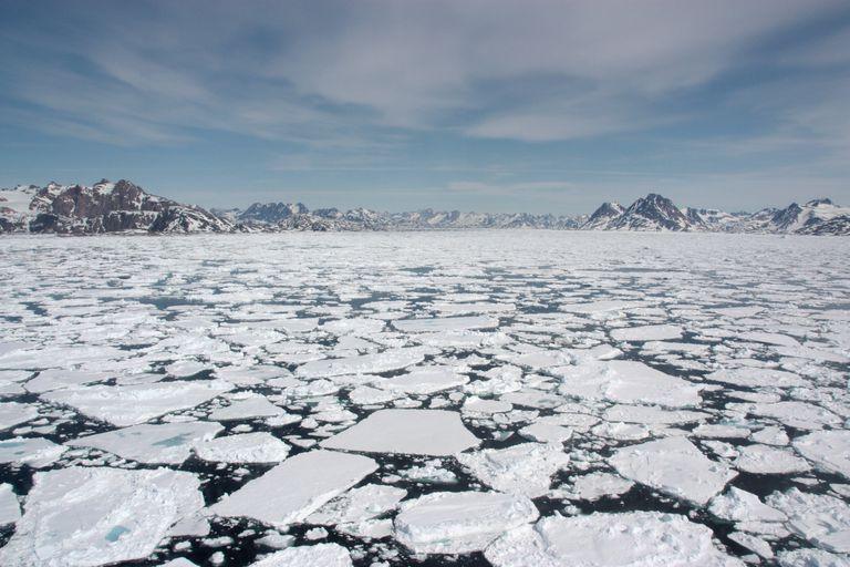 Sea ice melting in Greenland