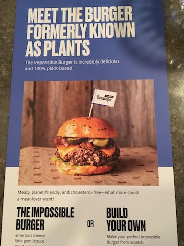 Impossible Burger flyer