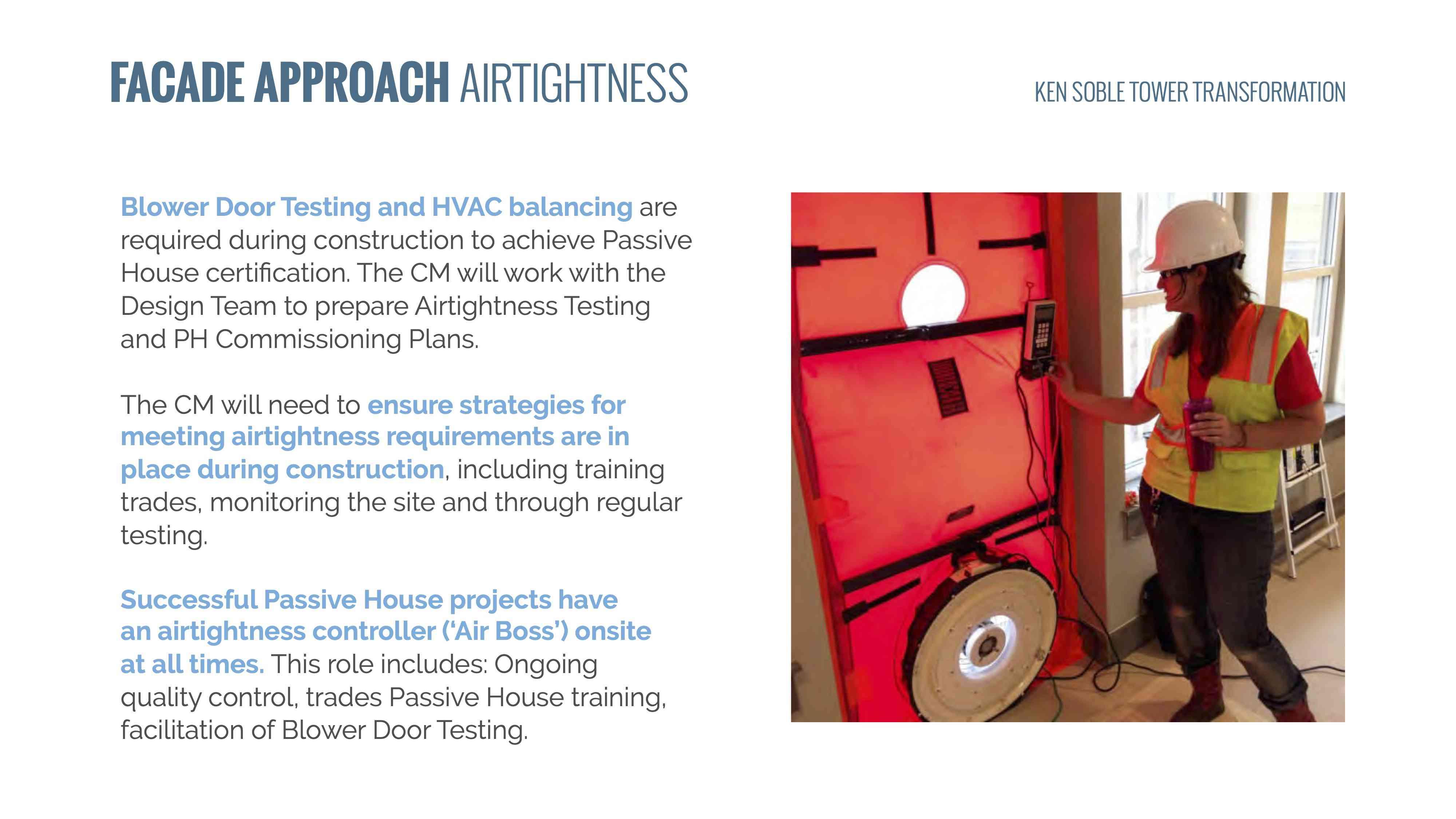 air tightness test