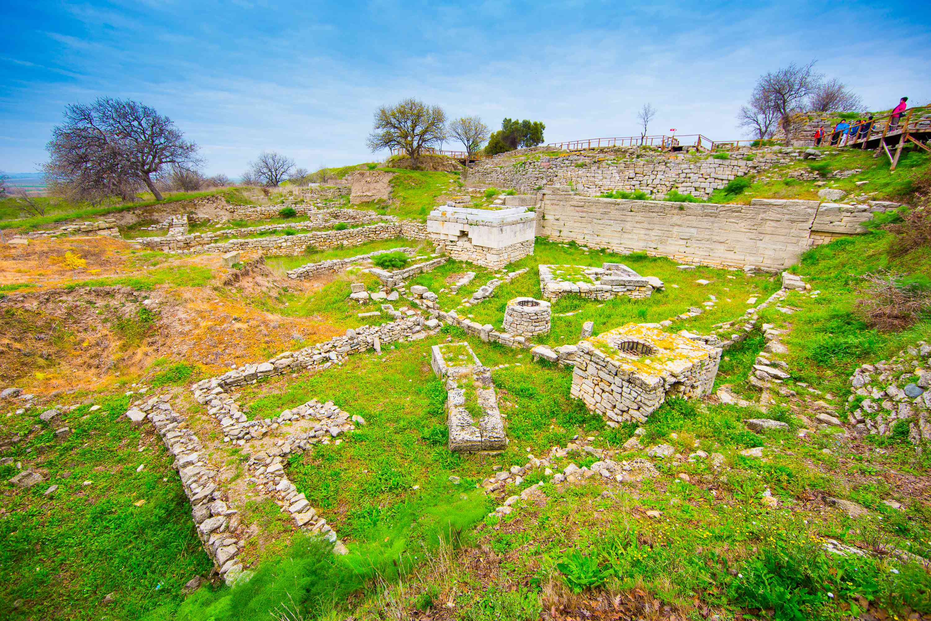 The Ruins of Troy in modern-day Turkey