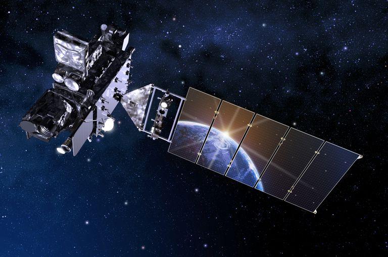 Satellite floating in space