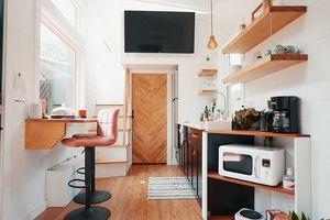 Scandi tiny house Tiny Stays Berlin interior