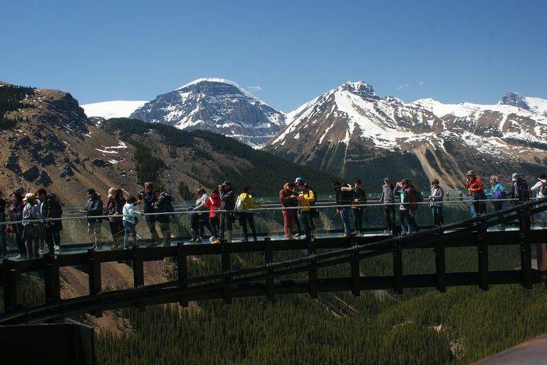 Los parques nacionales de Canadá están llenos de visitantes