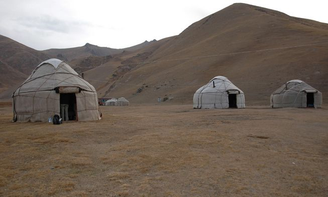 Yurts on the steppe