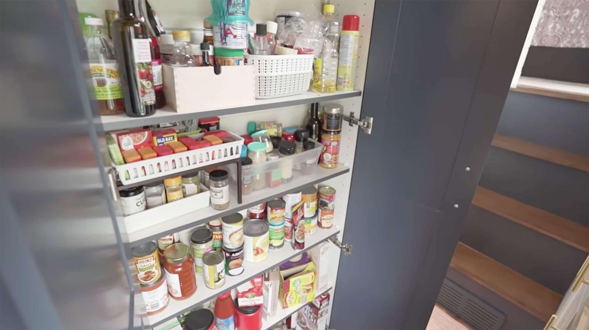 Serendipity tiny house pantry