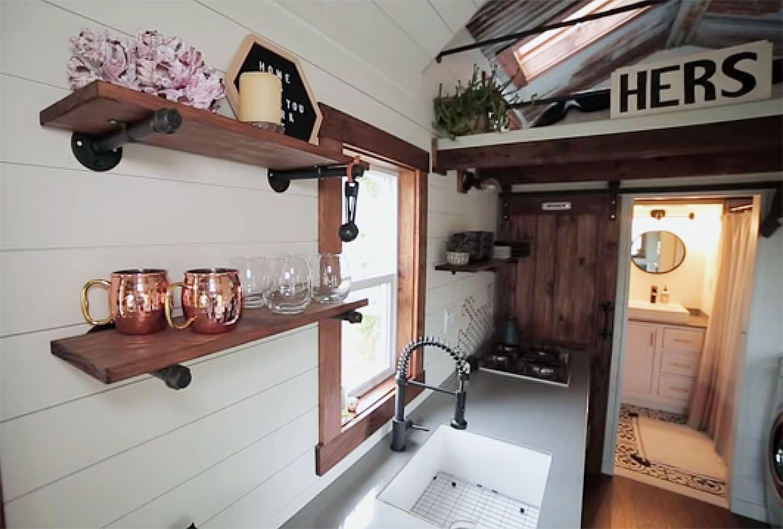 The Tangled Tiny by Tori kitchen shelves