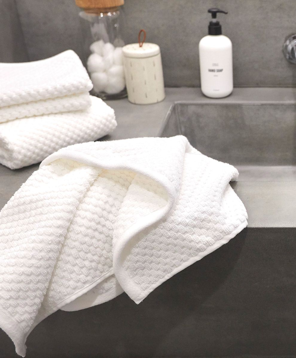Pact Waffle Bath Towels