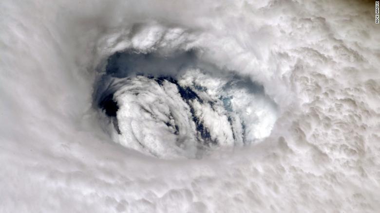 Hurricane Dorian from space.