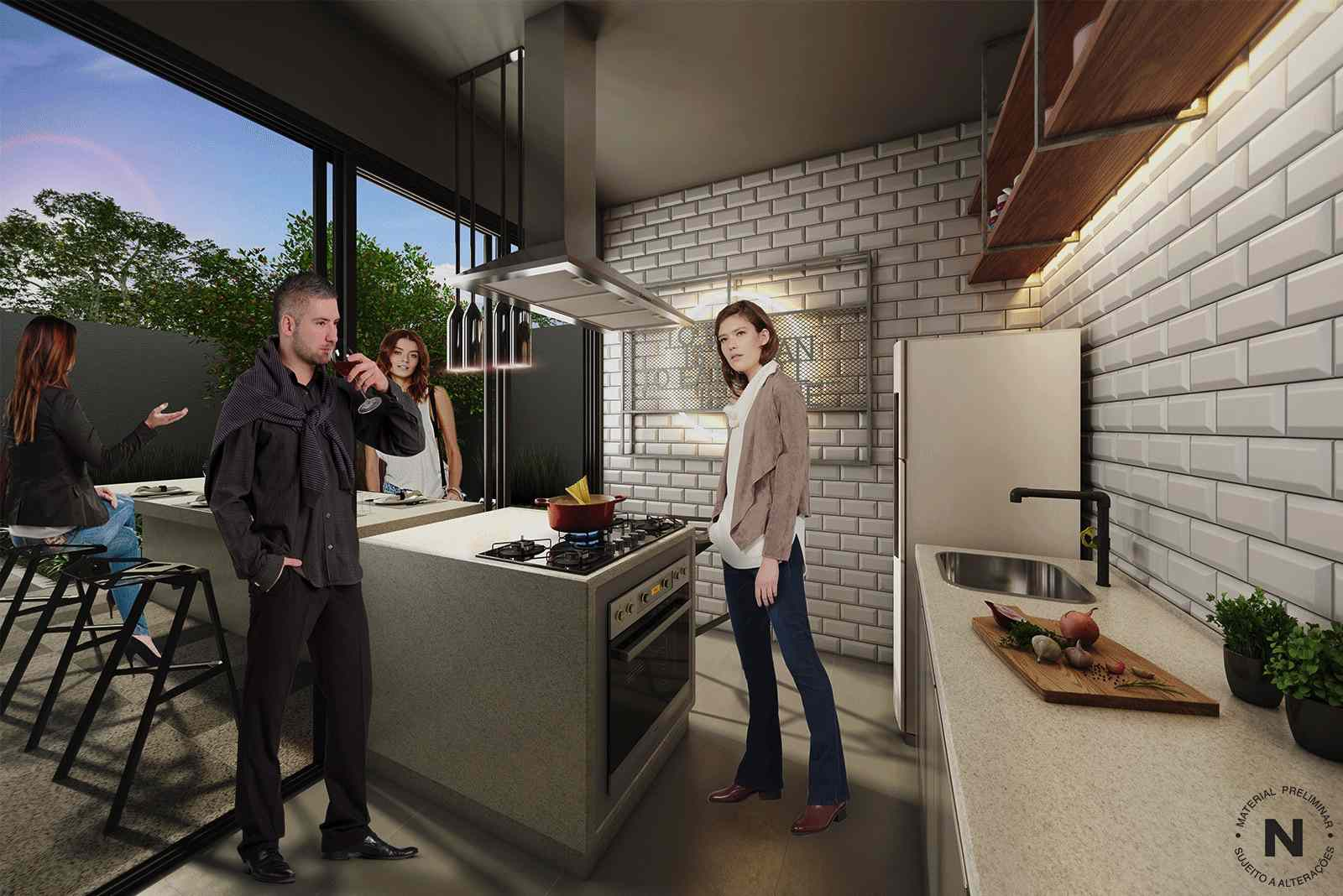 kitchen in condo