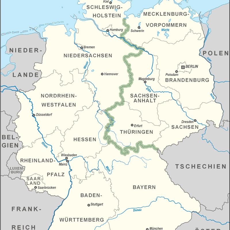 Map of Green Belt, Germany