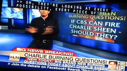 ¿Por qué no están los coches de Charlie Sheen en el garaje de Charlie Sheen?