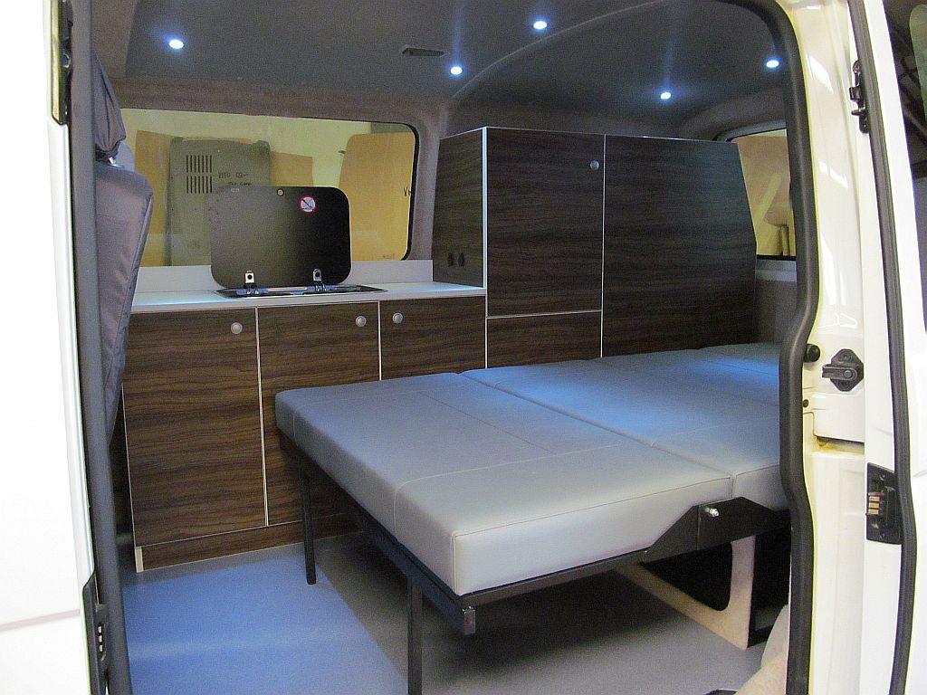 Bed in a camper van