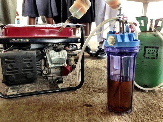 Urine powered generator
