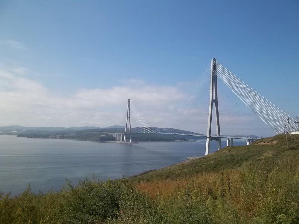 Russky Bridge over Eastern Bosphorous strait