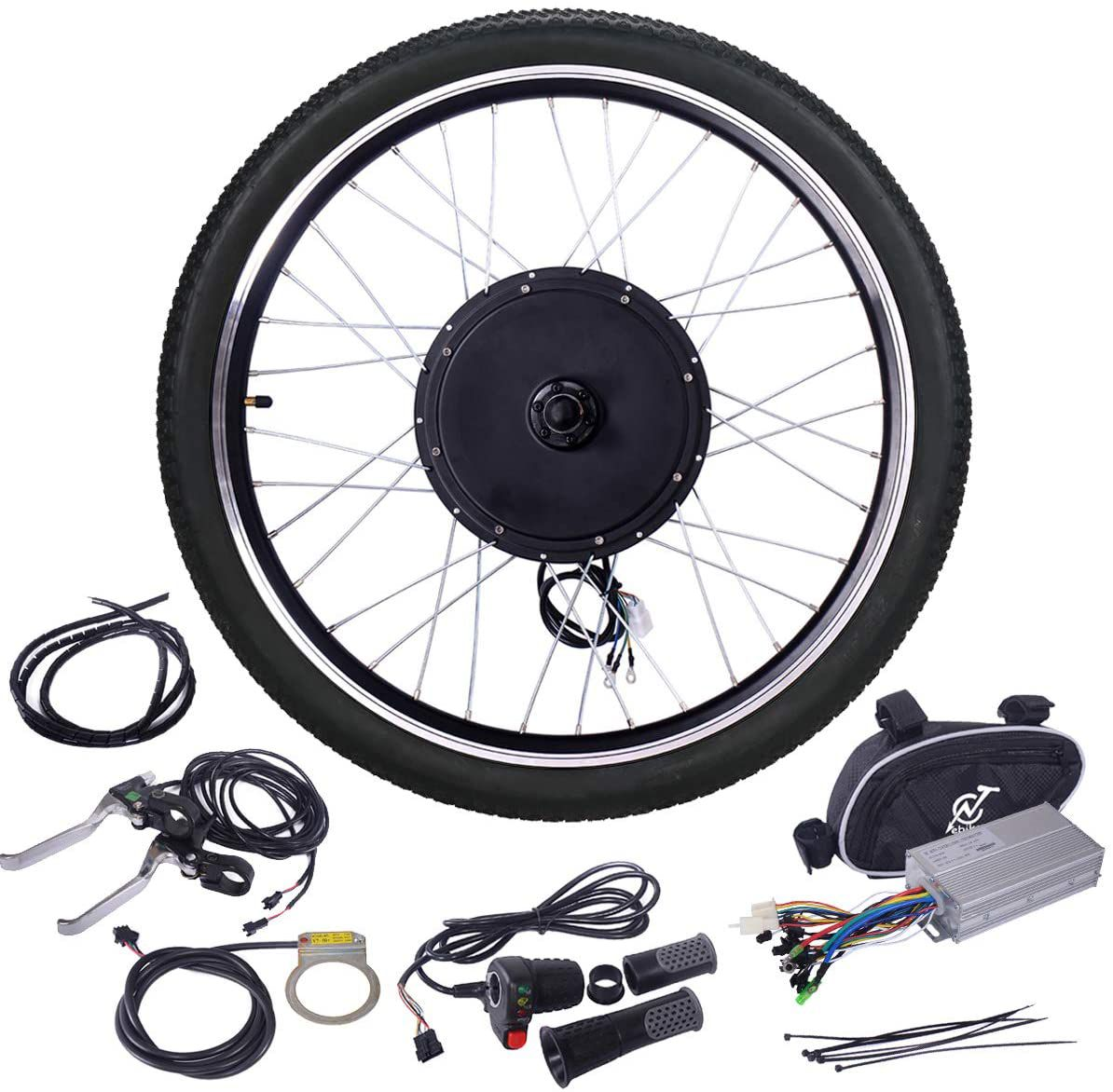 """Jaxpety 48V 1000W Electric Bicycle Cycle E Bike 26"""" Wheel Ebike Hub Motor Conversion Kit"""