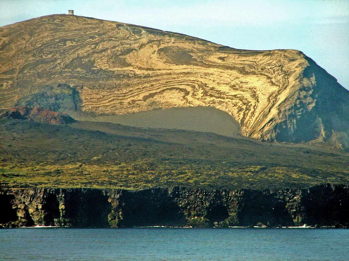 The uninhabited, volcanic Surtsey Island