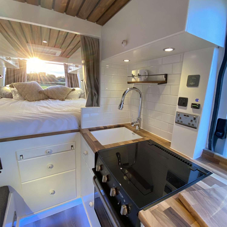 Stacia van conversion Vanlife Conversions Ltd. kitchen