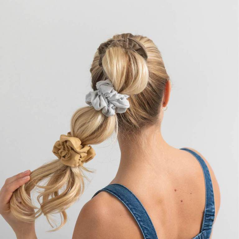 washable plastic-free scrunchies
