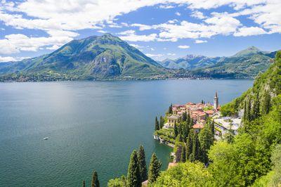 Varenna on shore of Lake Como, Lombardy, Italy