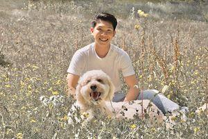 Alexander Tsao with his dog Jinger