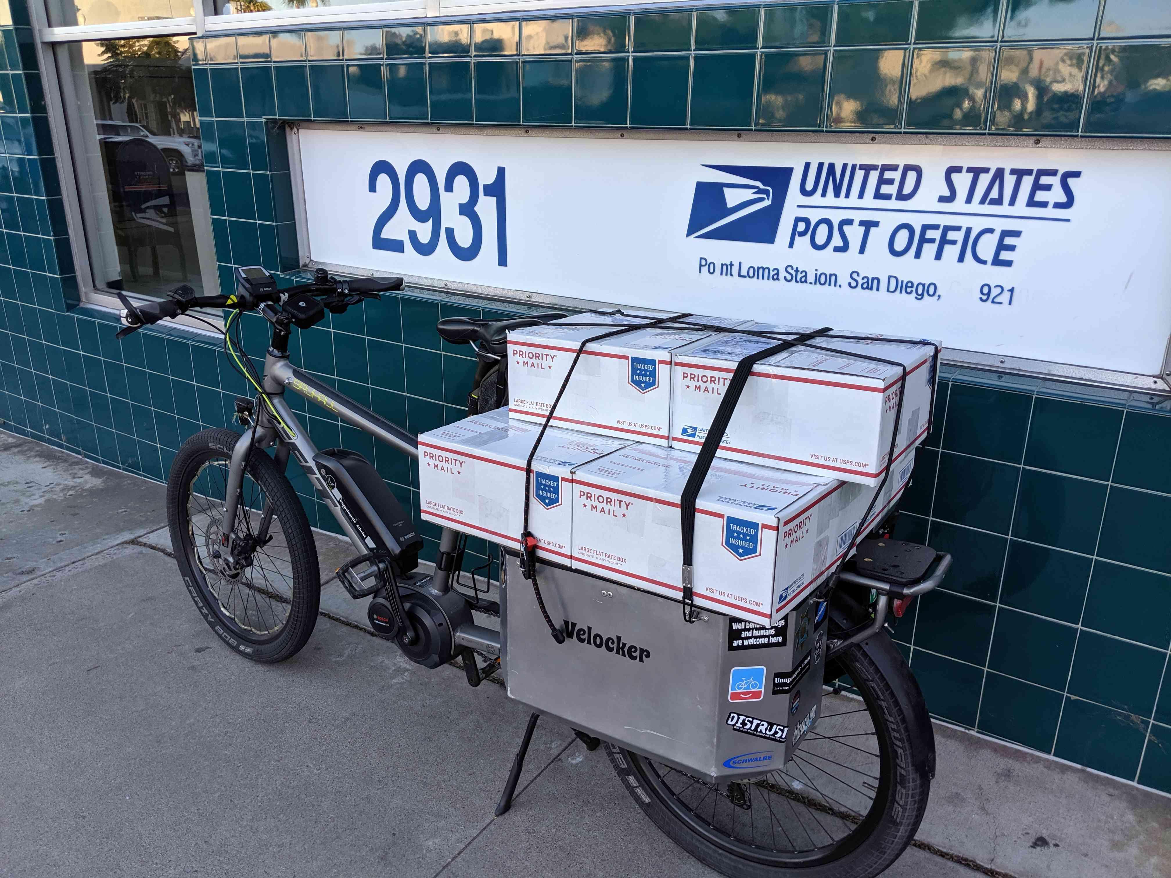 Velocker at the post office