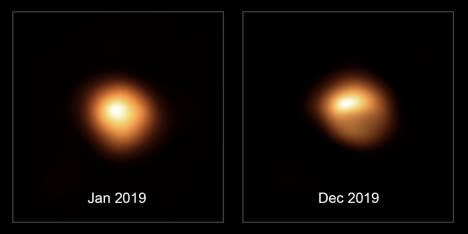 Betelgeuse is dimming, ESO comparison