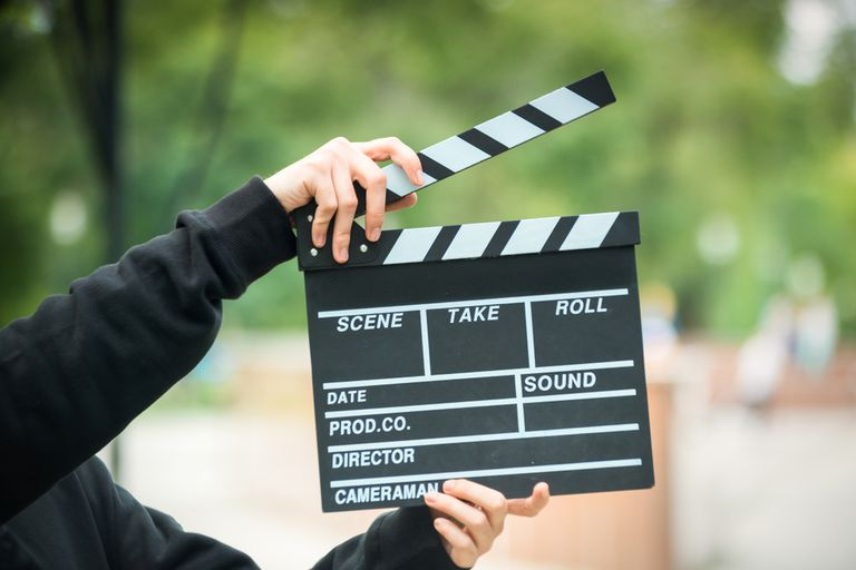 A marker on a film set