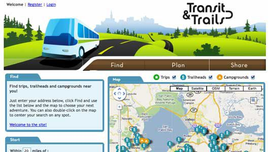 Old Transit and Trails locater map