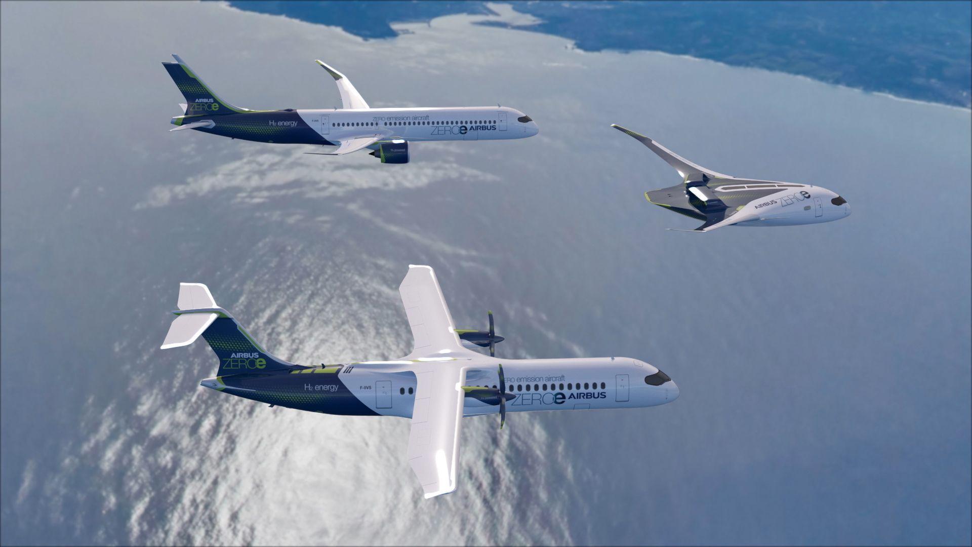 3 Hydrogen planes flying