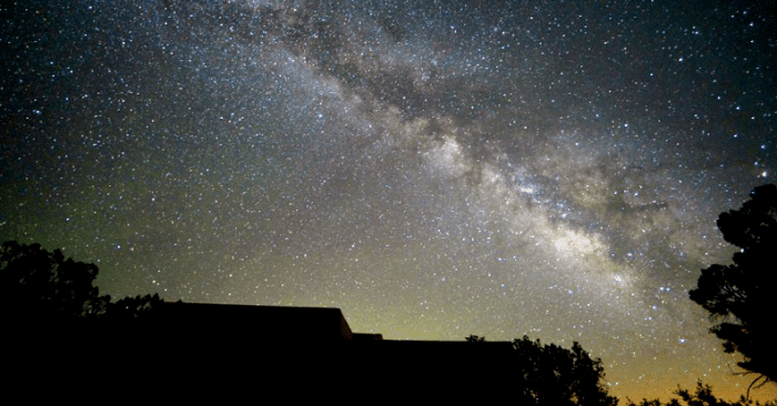 The Milky Way rising over Big Park / Village of Oak Creek, Arizona.