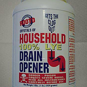 container of household lye