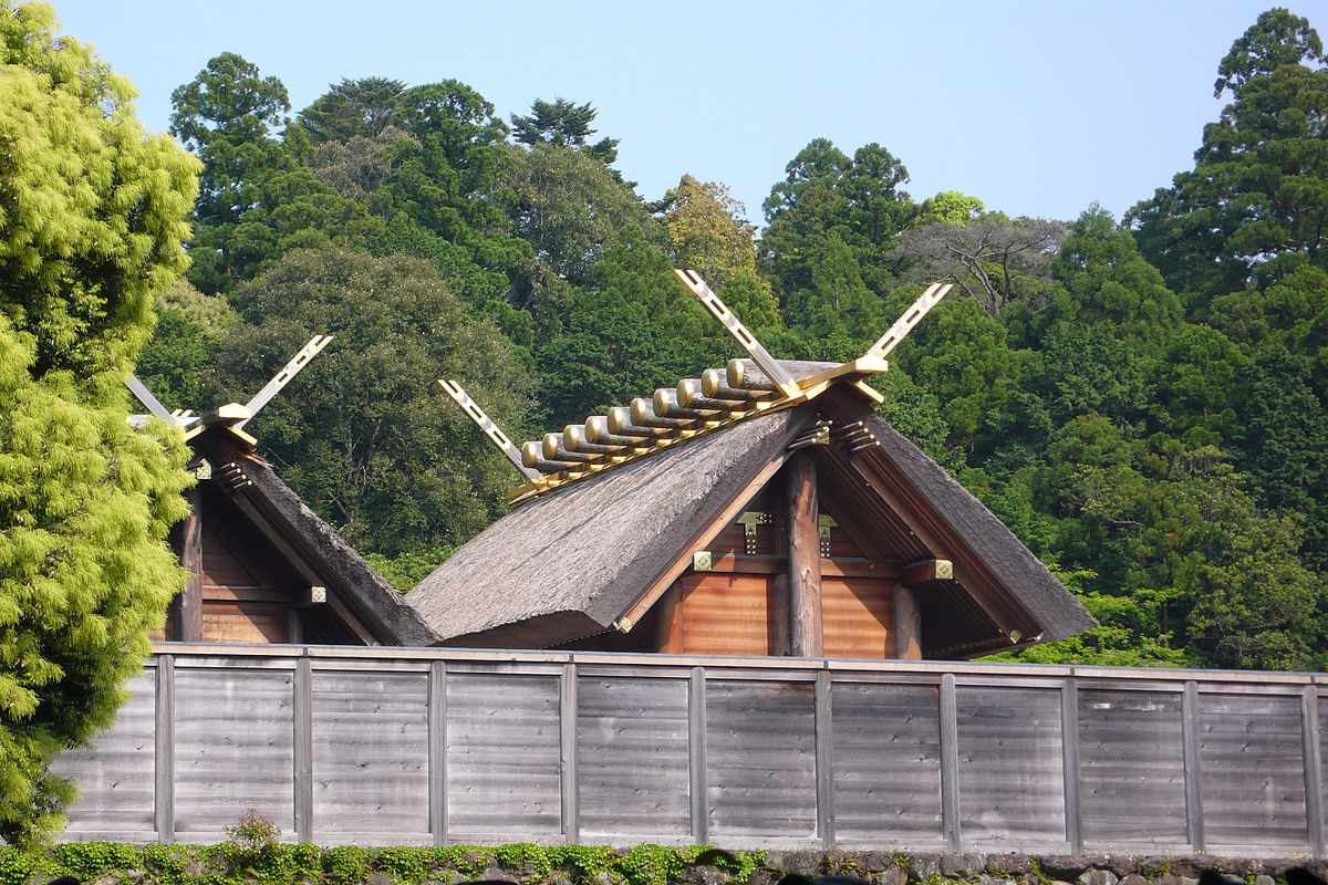 Holy Shinto shrines in Japan are obscured by a fence
