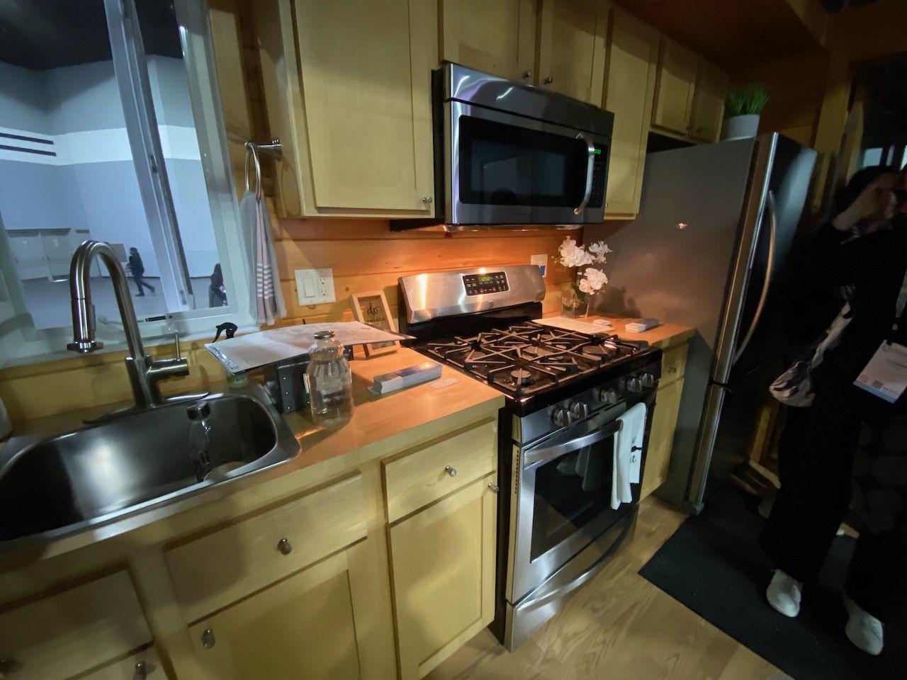 closeup of stove