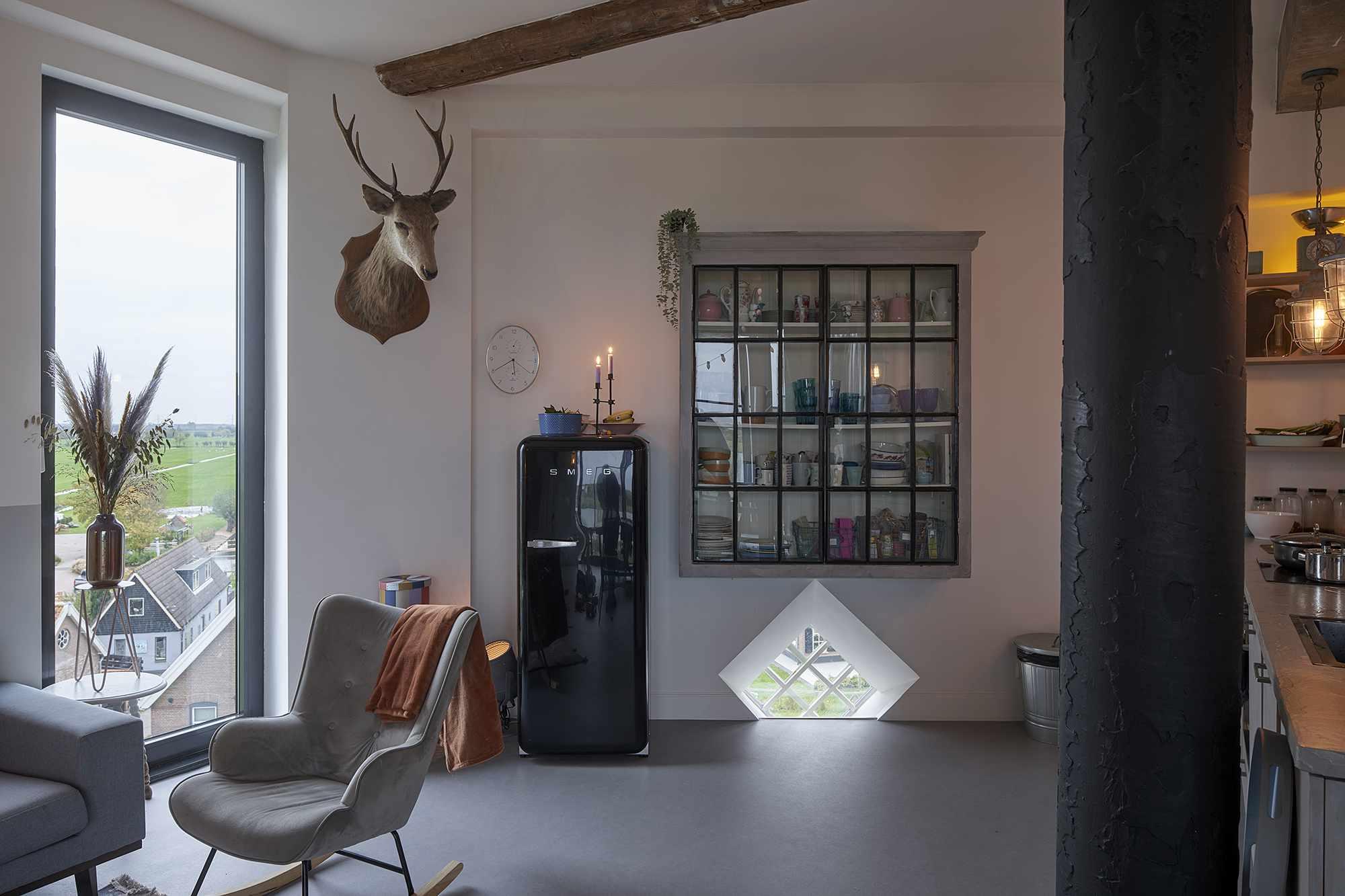 Dutch Water Tower family home RVArchitecture kitchen storage
