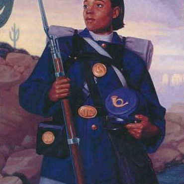 Painting of Cathay Williams, African Americans in the U.S. Army Profiles of Bravery