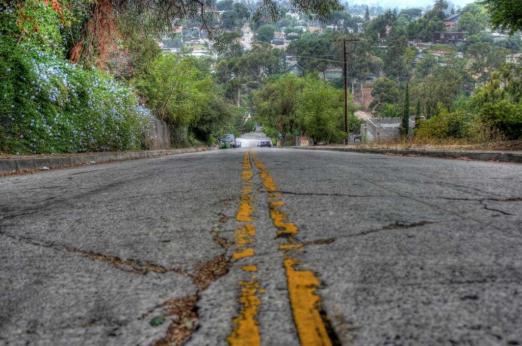 Baxter Street in Los Angeles, California