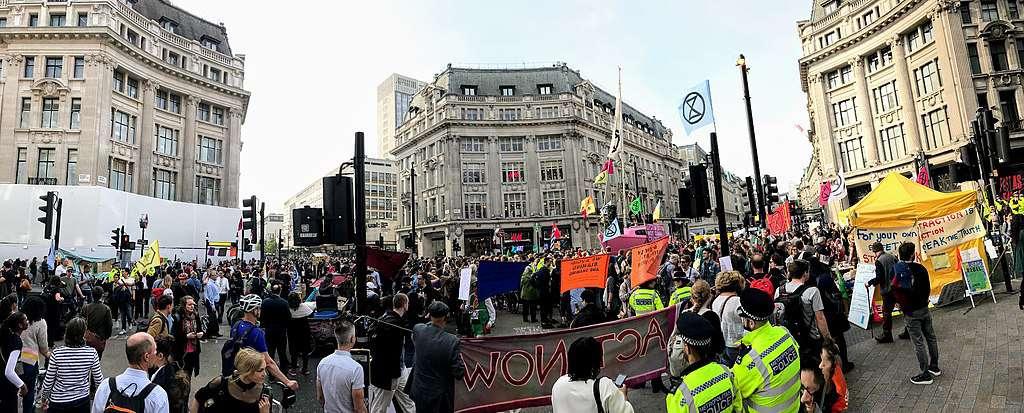 Oxford circus protest