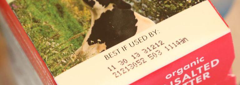 La fecha en su paquete de alimentos no tiene sentido