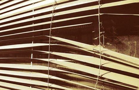 Broken and Bent Window Blinds Photo