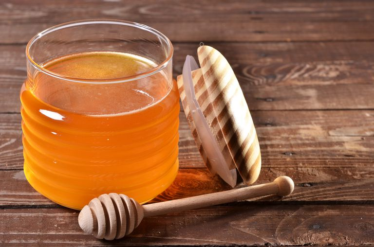 jar of honey - often used to soothe sore throats