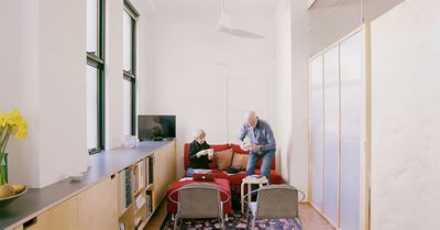 small apartment renovation for aging in place Nicholas Gurney living room