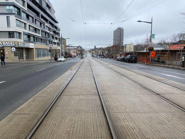 Toronto streetcar right of way