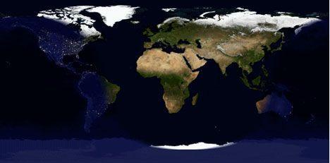 desktop earth screen layout image